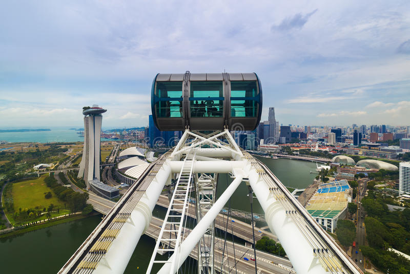 Singapore wheel flyer. Architecture and travel background royalty free stock photo