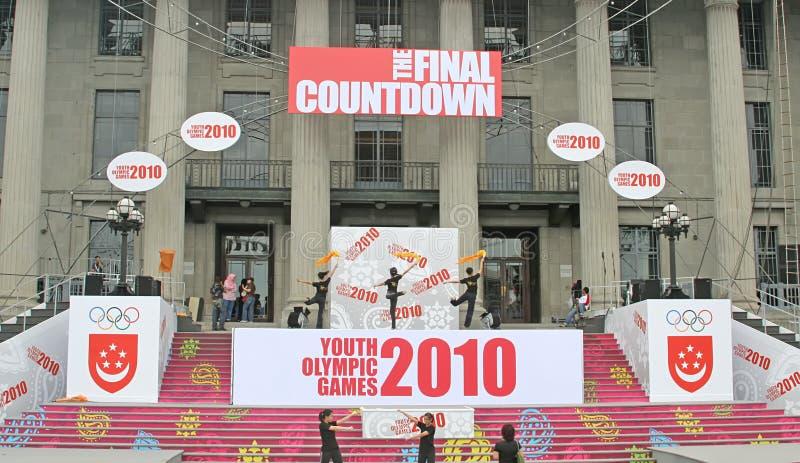 Singapore Youth Olympics Preparation Celebration Editorial Photography