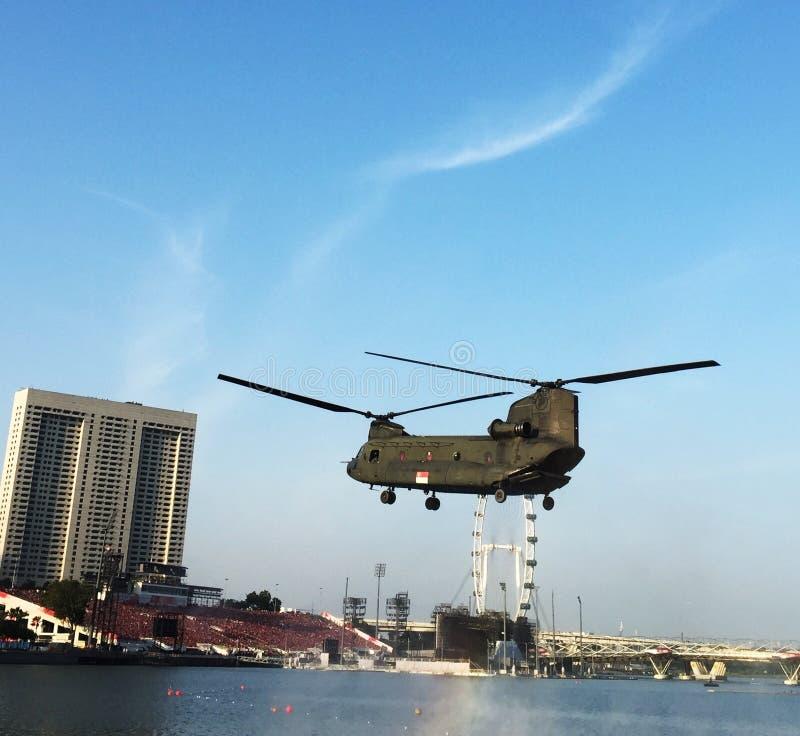 Singaporean Helikopter royalty-vrije stock fotografie