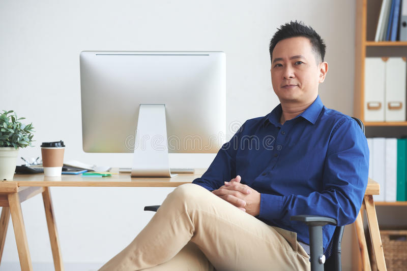 Singaporean ondernemer royalty-vrije stock afbeelding