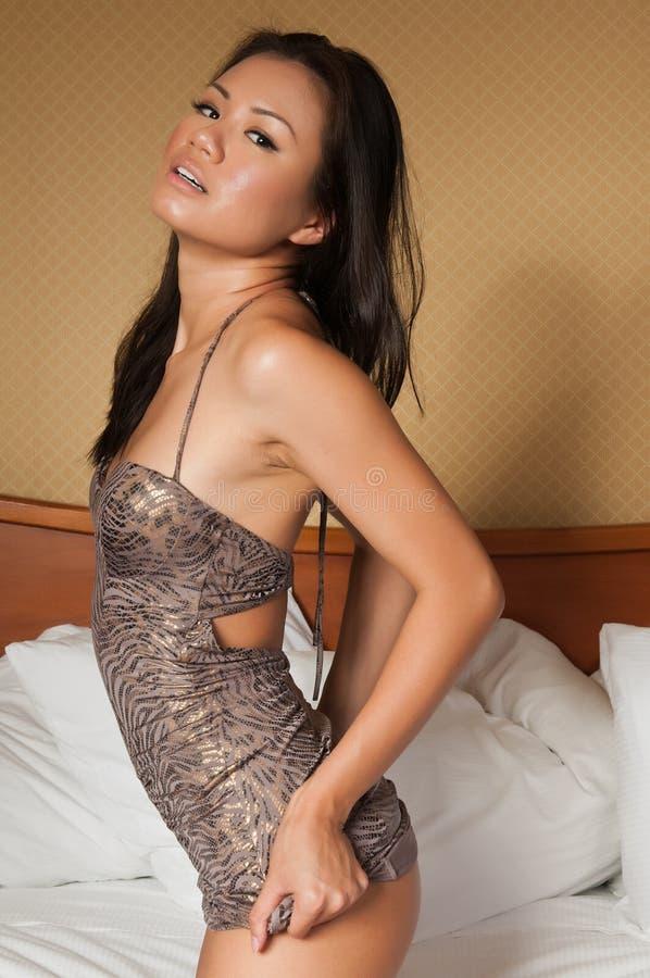 Singaporean vrouw royalty-vrije stock foto