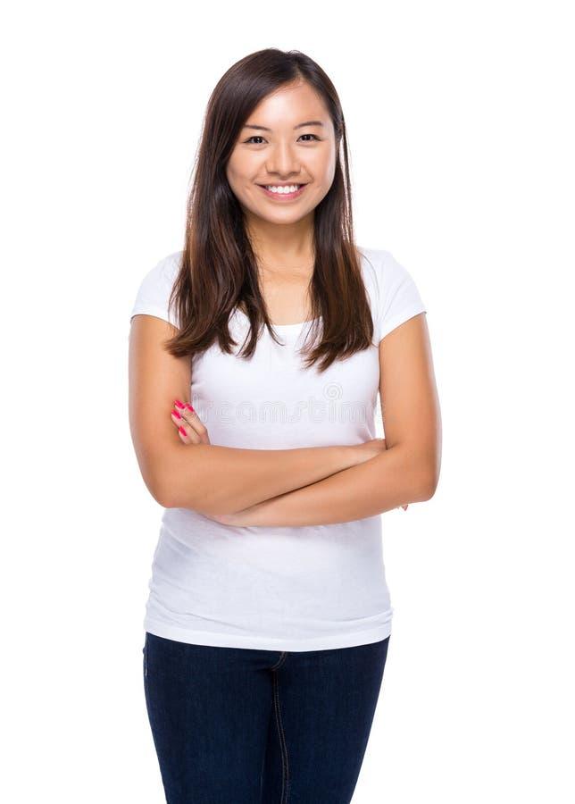Singaporean vrouw stock foto