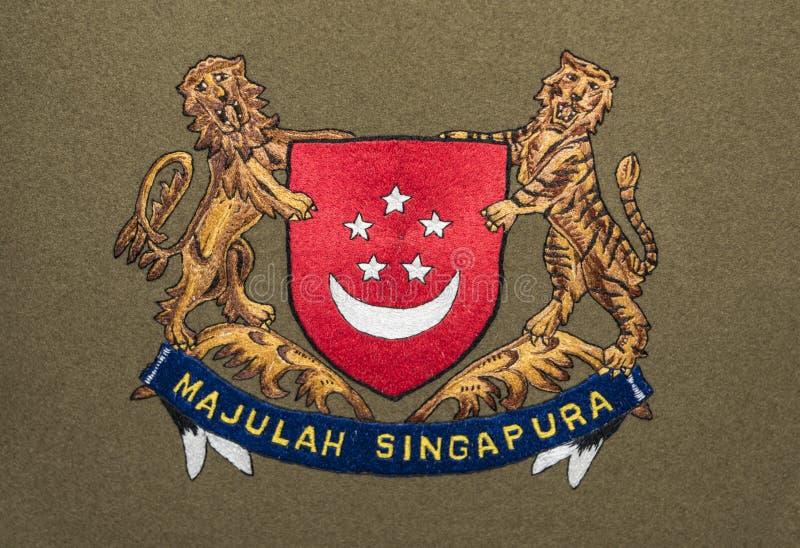 Singapour żakiet ręki ilustracja wektor