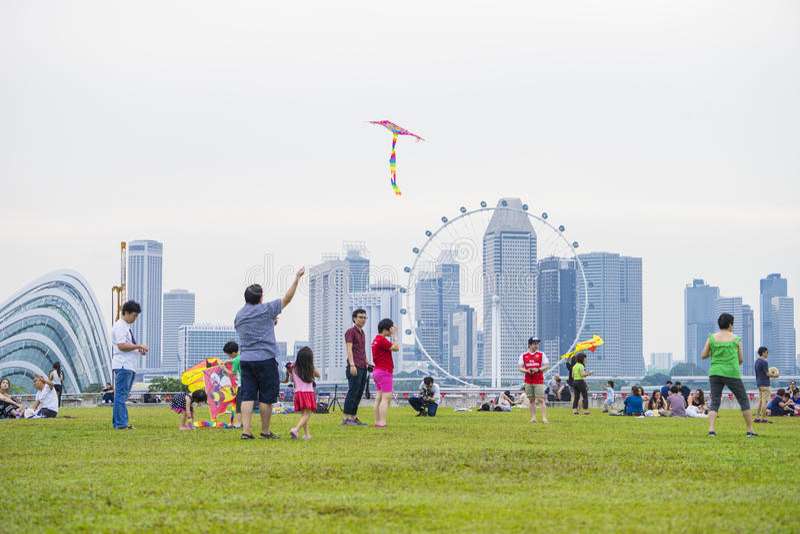 SINGAPOUR - 6 août : Festival de cerf-volant, une réunion pour l'enthus de cerf-volant image libre de droits