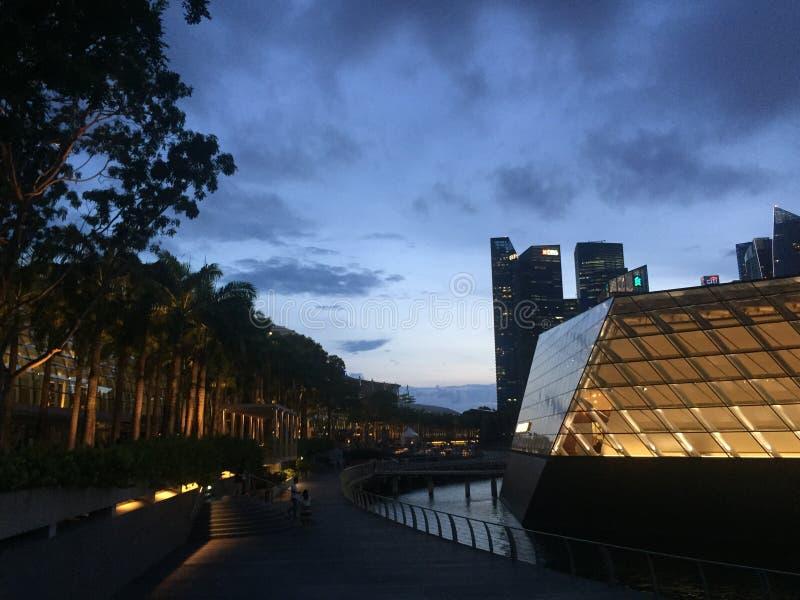 Singapour au coucher du soleil image libre de droits