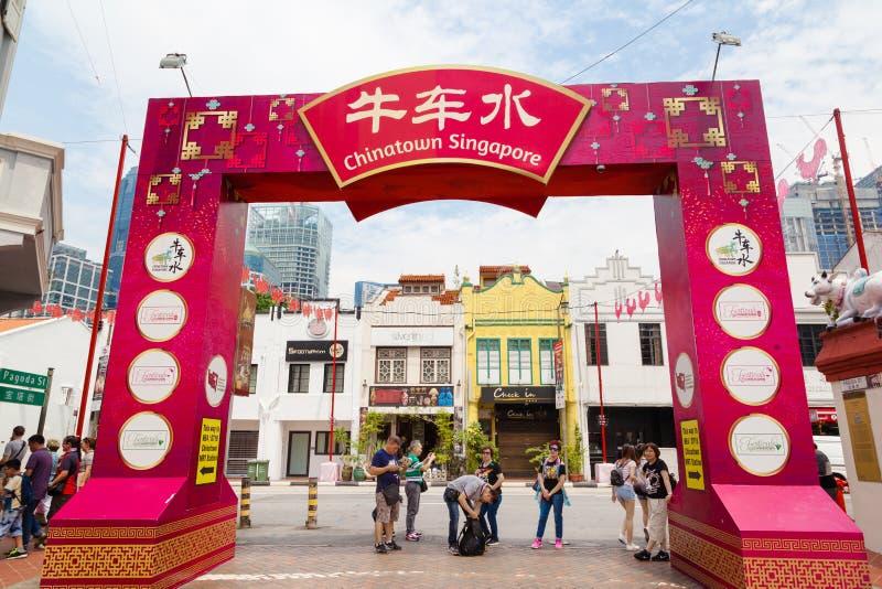 Singapour Chinatown images libres de droits