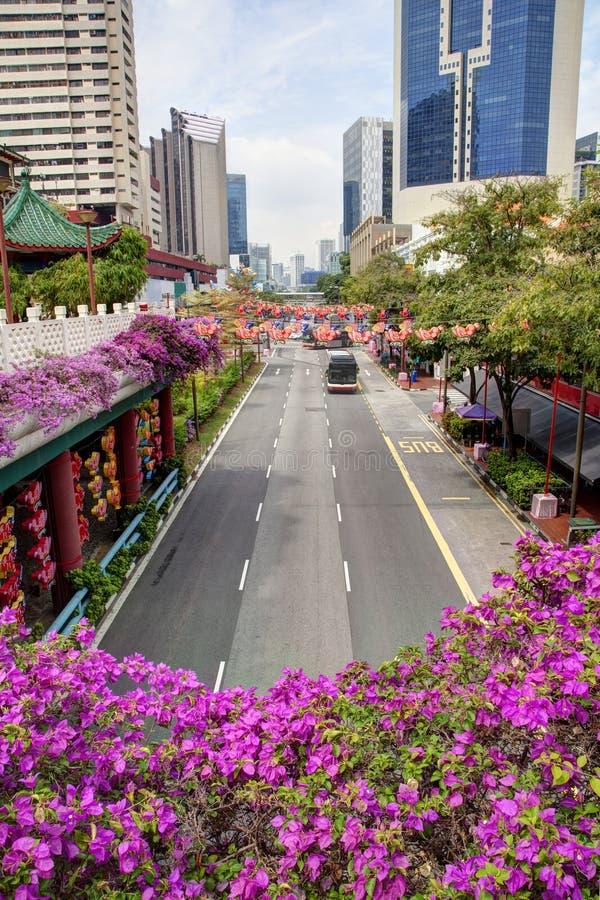Singapour Chinatown pendant le festival de Mi-automne images libres de droits