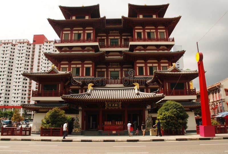 Singapour, Chinatown, temple de relique de dent de Bouddha photographie stock