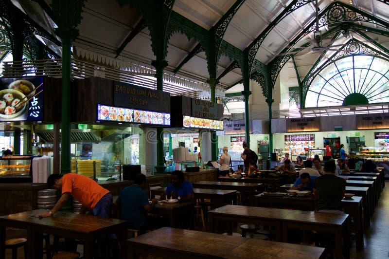 SINGAPOUR - 23 juillet 2016 : Lau Pa Sat Festival Market a été autrefois connu comme Telok Ayer - maintenant c'est une restaurati image stock