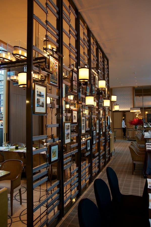 SINGAPOUR - 23 juillet 2016 : restaurant de luxe la colonie à un hôtel cinq étoiles Ritz-Carlton Millenia Marina Bay photographie stock