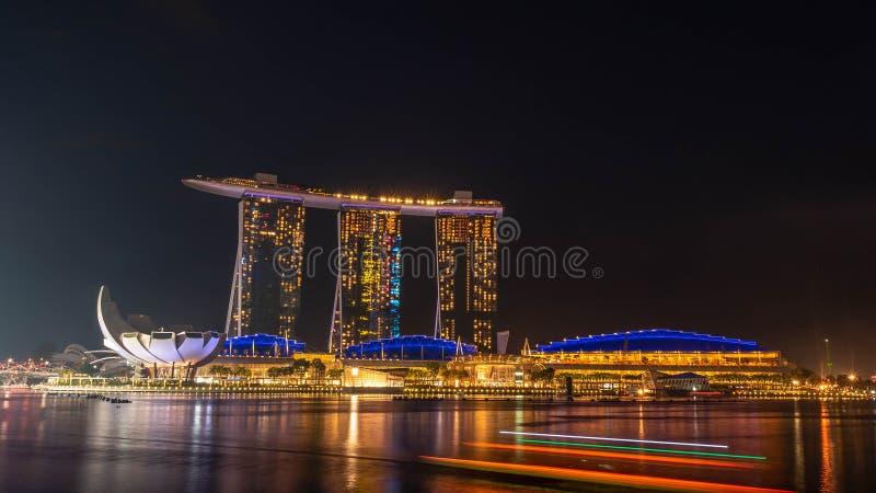 SINGAPOUR, LE 22 DÉCEMBRE 2017 : Paysage urbain d'horizon de Singapour à images libres de droits