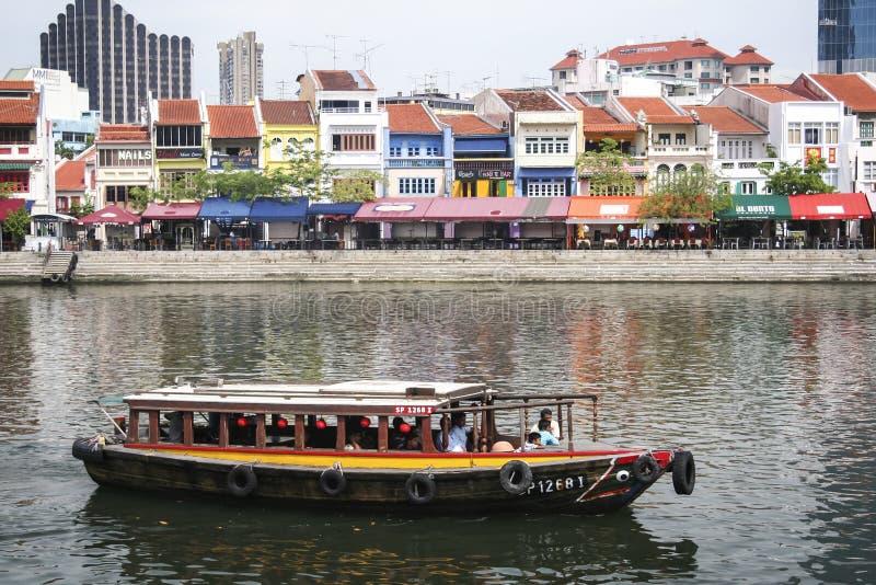 Ville de Singapour de rive de quai de Clarke photographie stock