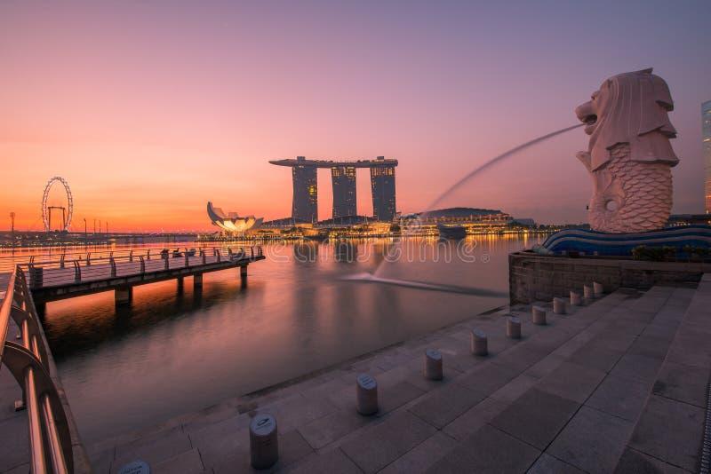 Singapour Merlion images libres de droits