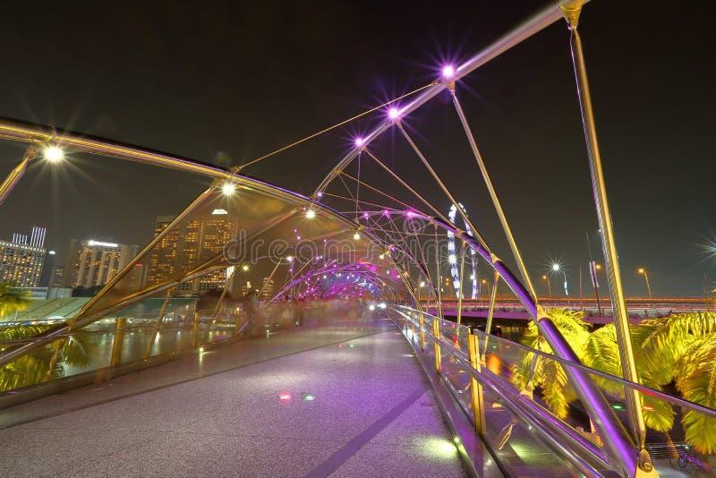 Singapour : Pont d'hélice photographie stock libre de droits