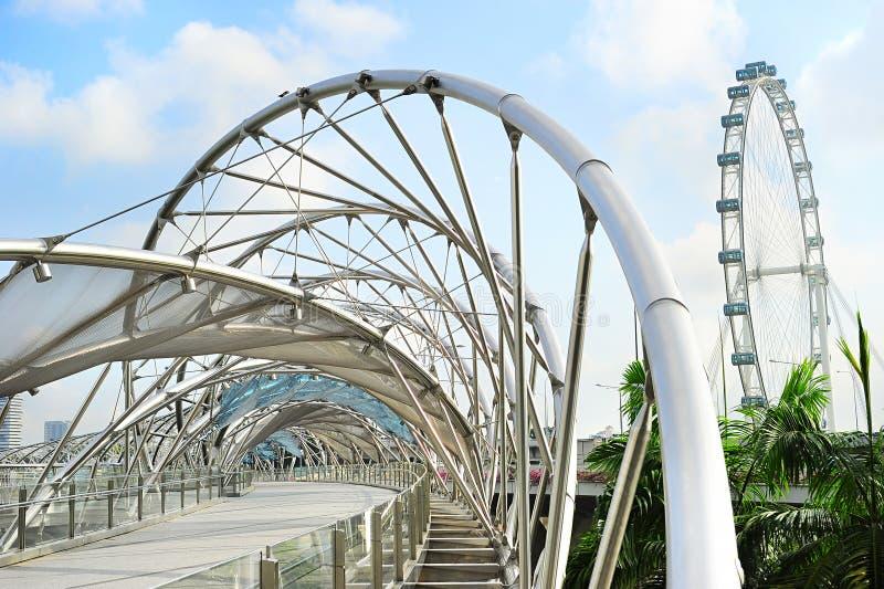 Pont d'hélice à Singapour photos stock