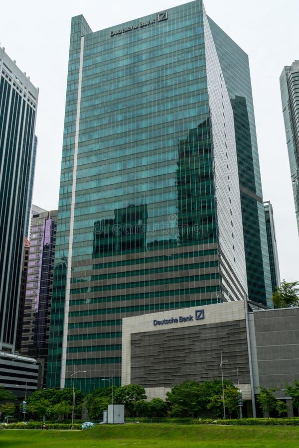 Singapour - 16 septembre 2017 : Un immeuble de bureaux avec Deutsche photographie stock