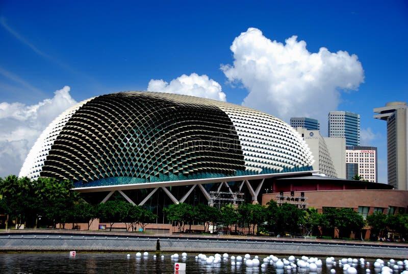 Singapour : Théâtres sur l'esplanade photo libre de droits