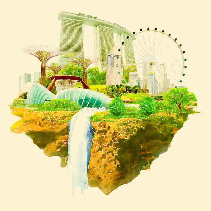 Singapur ilustracja wektor