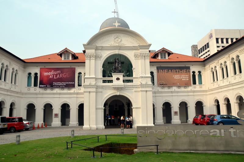 Singapur Art Museum lizenzfreie stockfotografie