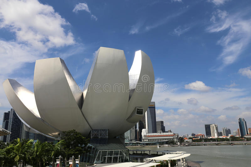 Singapur Art Science Museum lizenzfreies stockbild