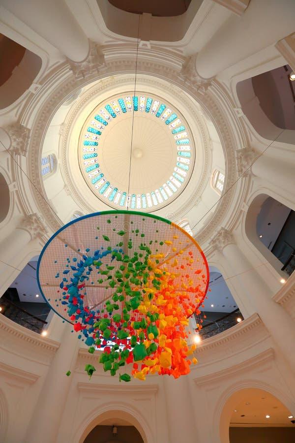 Singapur: Bóveda de la Rotonda del Museo Nacional de Singapur imágenes de archivo libres de regalías