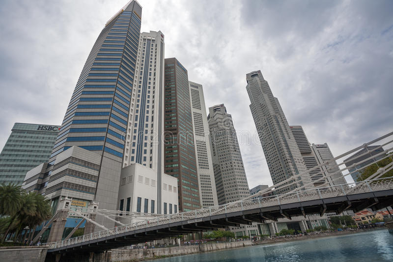 Singapur céntrico imagen de archivo