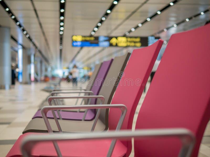 Singapur, Changi lotnisko - NOV 22, 2018: czekanie sala w Changi lotnisku fotografia royalty free
