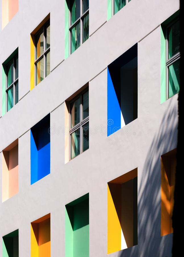 Singapur 5 DE ENERO DE 2019: Fachada del norte de la construcción de escuelas primaria de Singapur Vista fotos de archivo libres de regalías