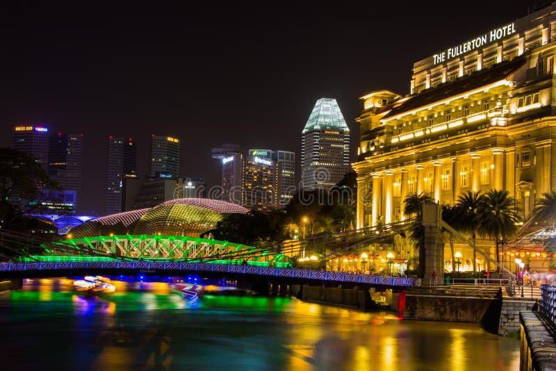 SINGAPUR - 8 DE FEBRERO: El hotel de Fullerton fotografía de archivo libre de regalías