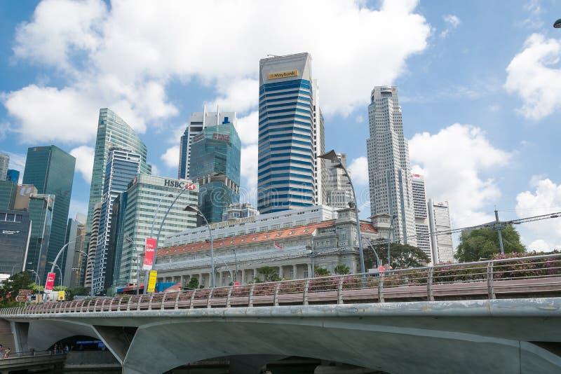 Singapur - 15 de julio de 2015, ciudad de Singapur imágenes de archivo libres de regalías