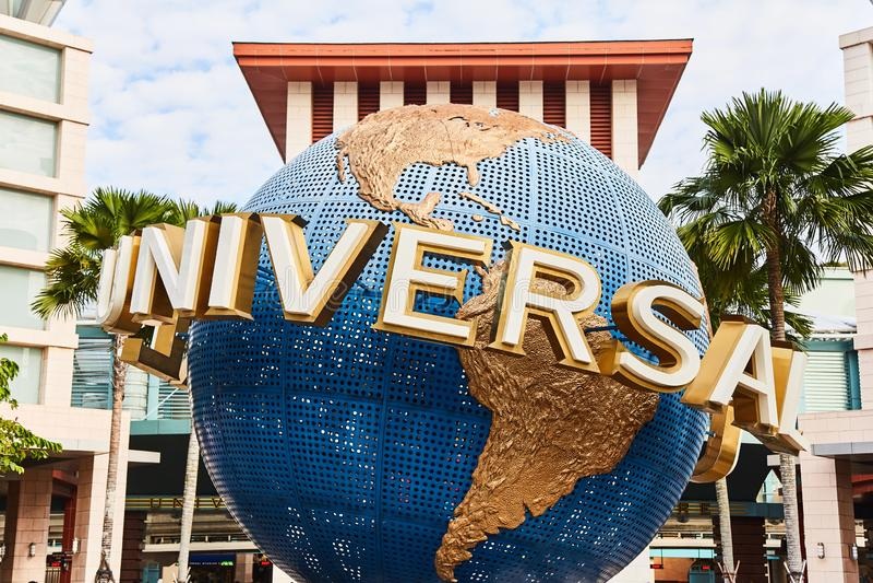 Singapur, Singapur: 19 de marzo de 2019: Universal Studios en la isla de Sentosa, Singapur imagenes de archivo