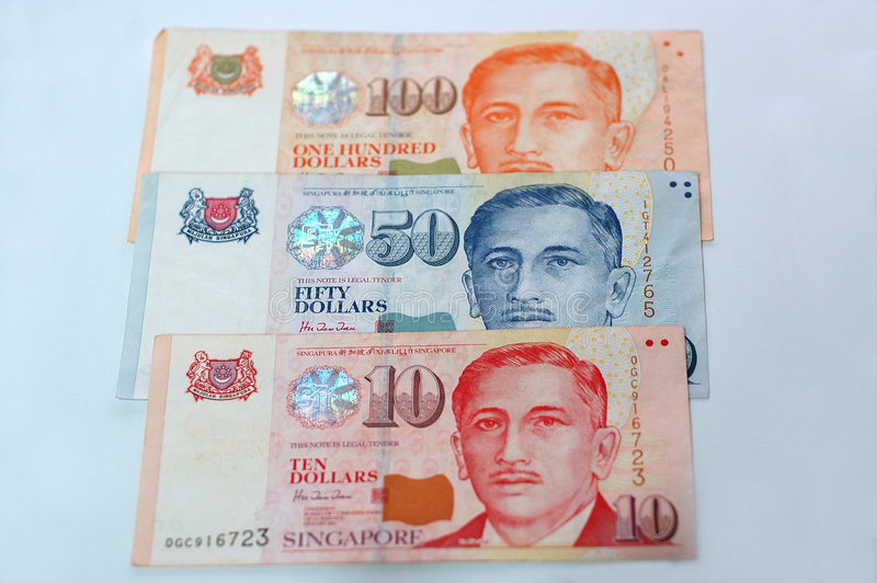 Singapur-Dollar stockfotos