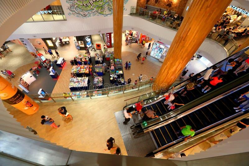 Singapur: Droga wodna punktu centrum handlowe zdjęcie royalty free