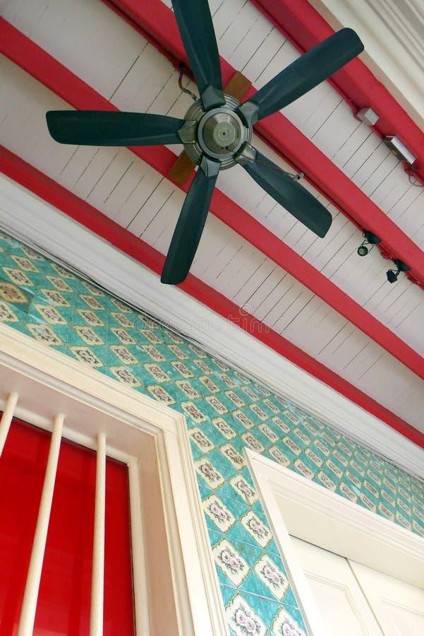 Singapur dziedzictwa domu porcelanowi grodzcy szczegóły zdjęcia stock