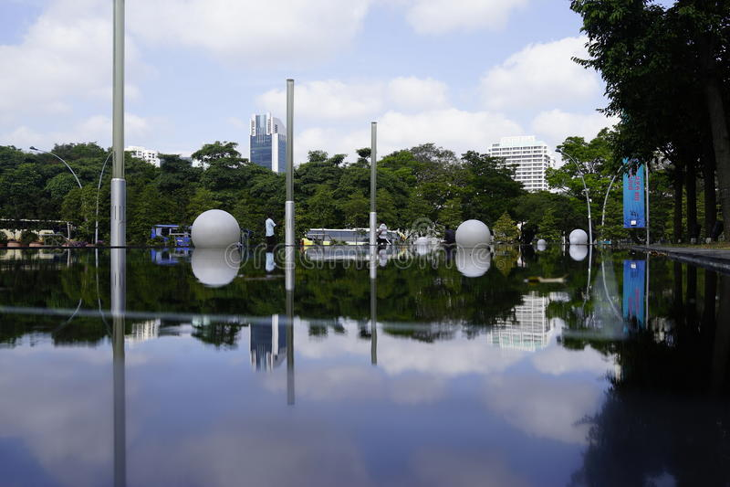 Singapur esplanady teatr obrazy royalty free