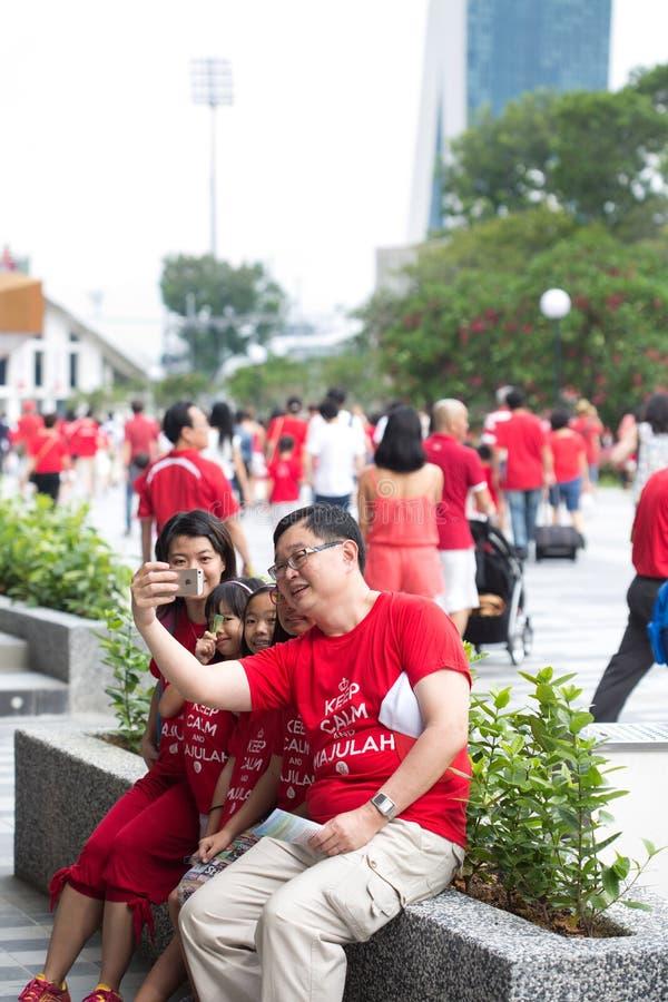 Singapur feiert Nationaltag SG50 stockbild