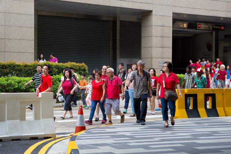 Singapur feiert Nationaltag SG50 stockfotos