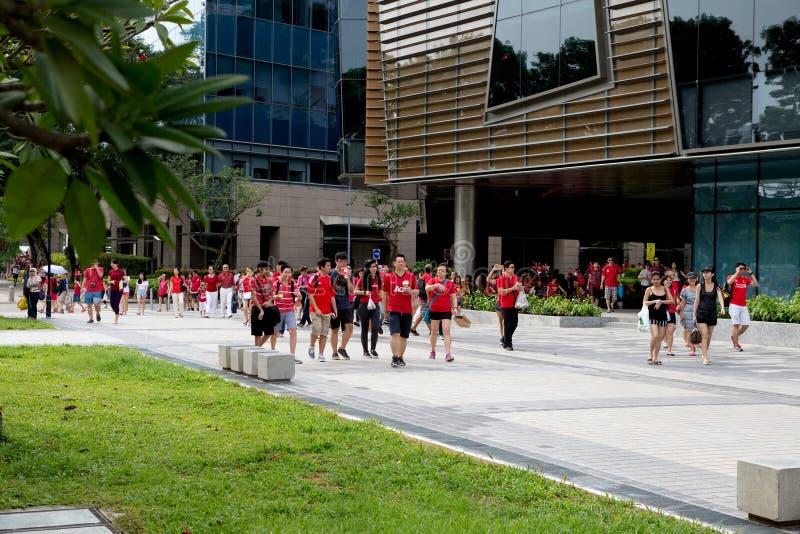 Singapur feiert Nationaltag SG50 stockfotografie