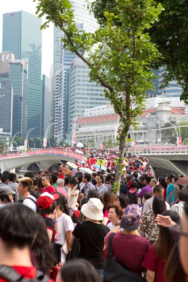 Singapur feiert Nationaltag SG50 lizenzfreie stockbilder