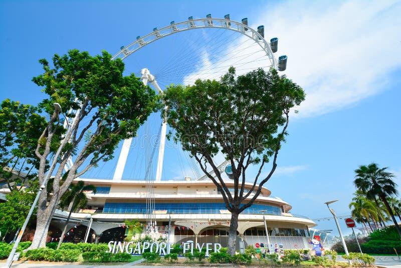 Singapur Flayer la noria gigante fotografía de archivo