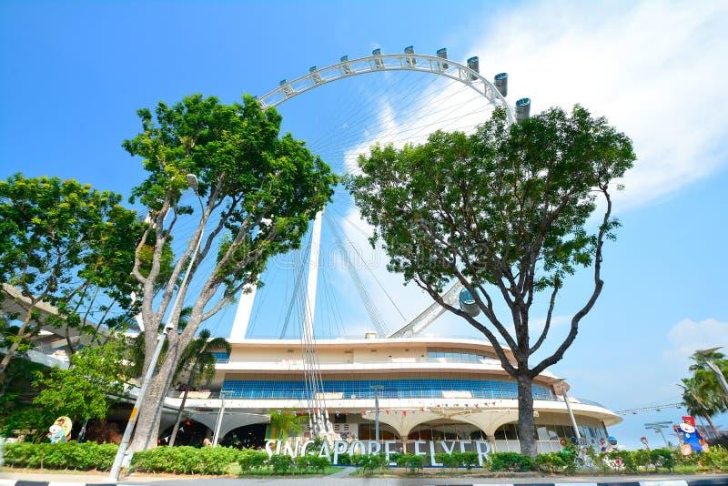 Singapur Flayer la noria gigante fotos de archivo libres de regalías