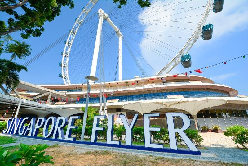 Singapur Flayer la noria gigante imágenes de archivo libres de regalías