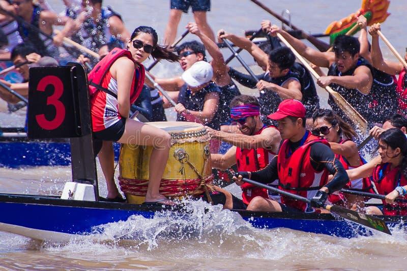 Singapur-Fluss-Regatta 2014 lizenzfreies stockfoto