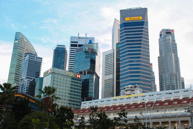 Singapur-Gebäude stockbilder