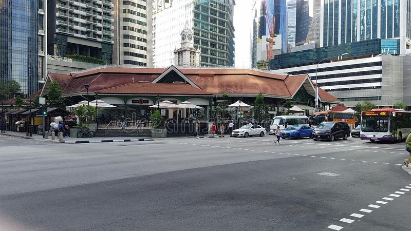Singapur im Stadtzentrum gelegen lizenzfreie stockfotografie