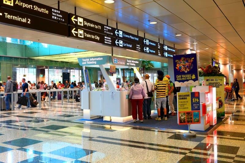 Singapur: Informacja odpierająca przy Changi lotniskiem obrazy royalty free