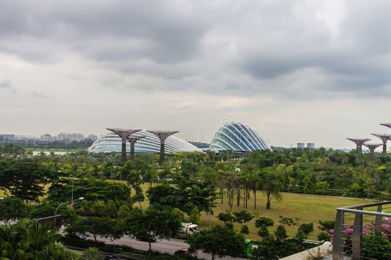 Singapur. Jardines por la bahía foto de archivo libre de regalías