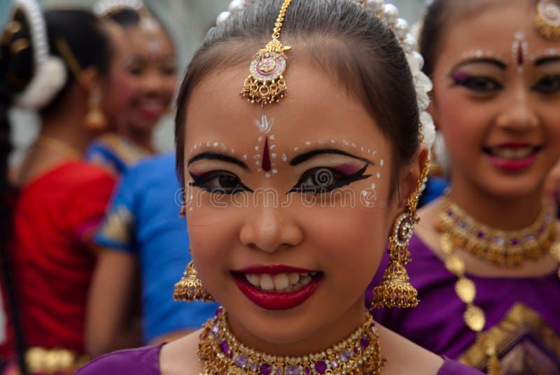 SINGAPUR-JUGEND-OLYMPISCHE SPIELE 2010: junges Mädchen lizenzfreies stockfoto