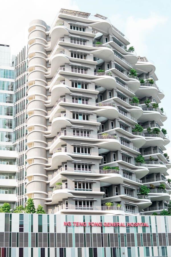 Singapur - 28. Juli 2019: Ng Teng Fong General Hospital gelegen in Jurong-Osten, Singapur stockbilder
