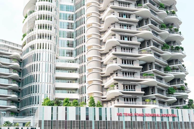 Singapur - 28. Juli 2019: Ng Teng Fong General Hospital gelegen in Jurong-Osten, Singapur stockfoto